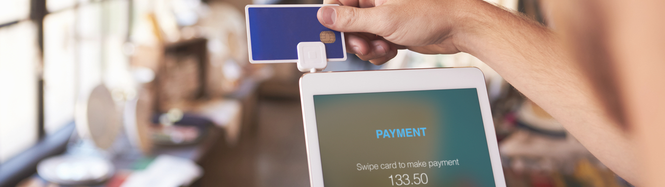 Credit Card payment on a tablet using square